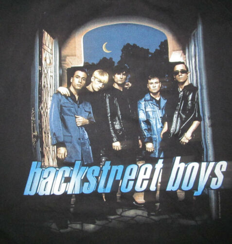 Backstreet Boys original 1997 VTG T shirt Men L Backstreet Productions 22 x 29