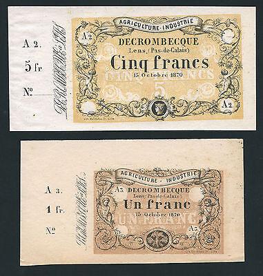 Notgeld Deutsch-Französischer Krieg 1870/71 (2 Werte) (1-)