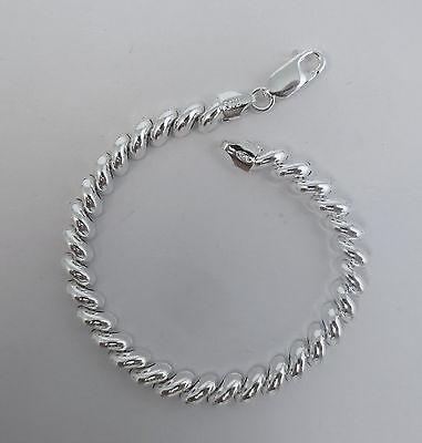 7, 8 inch San Marco Bracelet. 6mm, 8mm, 10mm Pure .925 Italian Sterling Silver. 7' San Marco Bracelet