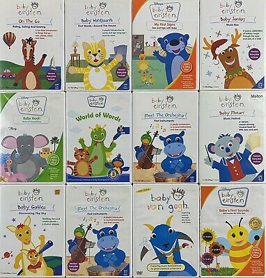 Lot #62A 12 Kids Children DVD's: Baby Einstein