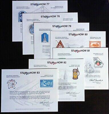 APS Souvenir Cards 1977-83 (Set of 7 ) FREE Shipping