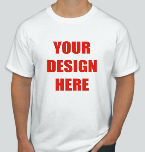 50 Custom Screen Printed WHITE T-Shirts - $3.50 each