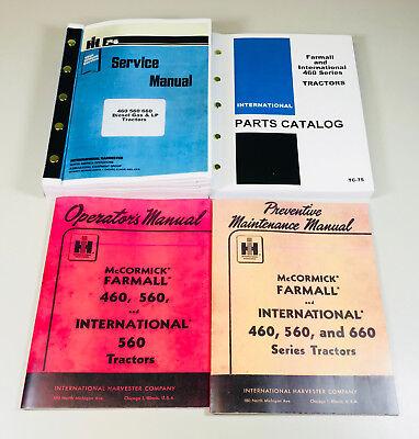 International Farmall 460 Gas Tractor Service Operator Parts Manual