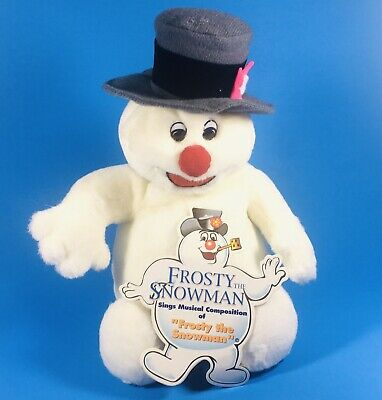 Gemmy Singing Frosty the Snowman - Holiday Christmas Plush Toy Sound Activated