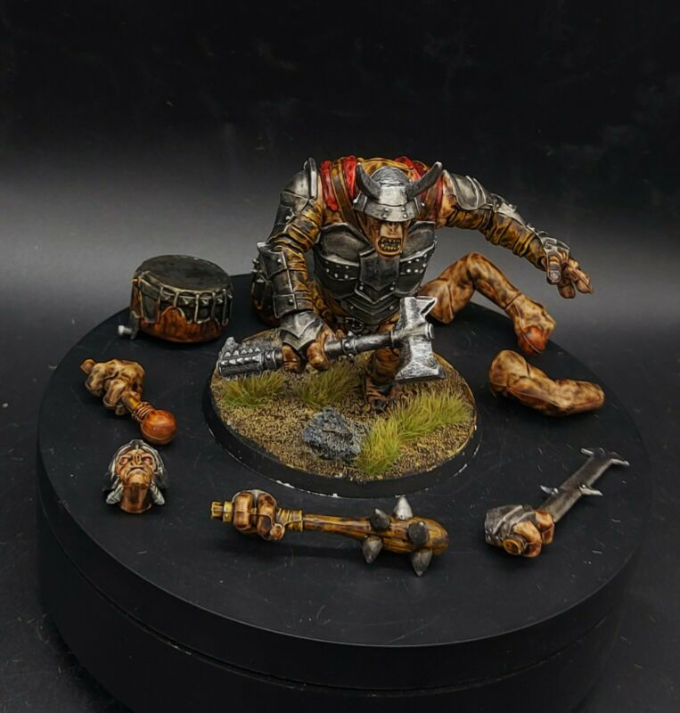 Pro Painted Warhammer Lotr MAGNETISED Troll (multiple weapon/head choices)