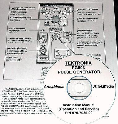 Tektronix Pg503 Pulse Generator. Instruction Operating Service Manual