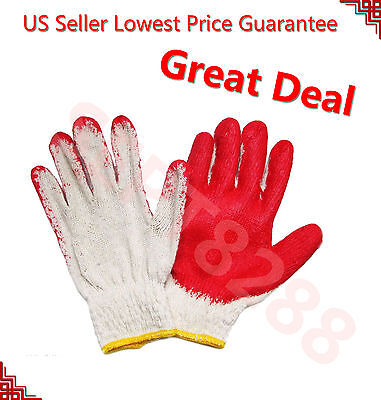 80 Pairs PREMIUM Red Latex Rubber Palm Coated Work Safety Gloves =Made in China=