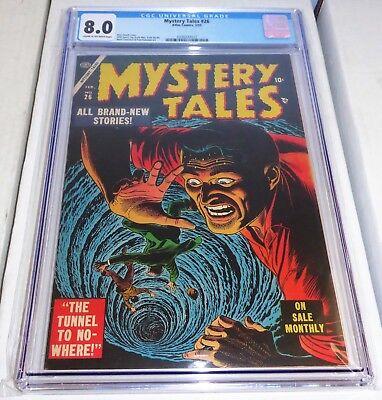 Mystery Tales #26 CGC Universal Grade 8.0 Pre Code Horror Book Atlas Comics 2/55