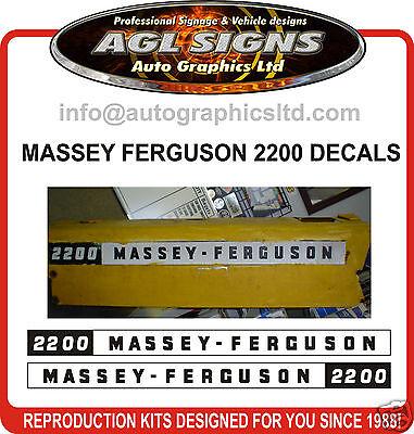 Massey Ferguson 2200 Tractor Decal Set Reprocduction