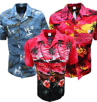 Hawaiian Shirt Beach Party Boys Girls Kids Children palm tree Party Fancy dress (Hawaiian Costume Boys)
