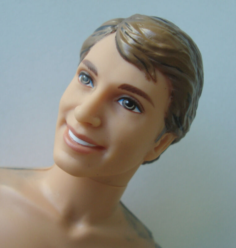Barbie/KEN NUDE DOLL Highlighted Molded Hair & Light Brown Eyes, NEW!