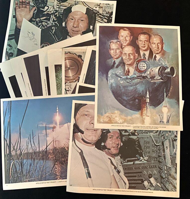 Apollo-Soyuz Test Project 12x Mission Prints Photos 1975 Space Astronauts NASA
