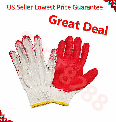 Wholesale 80 Pairs Premium Red Latex Rubber Palm Coated Work Safety Gloves 001