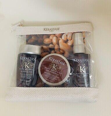 Kerastase Aura Botanica Travel Set Bain Shampoo, Treatment & Mist New