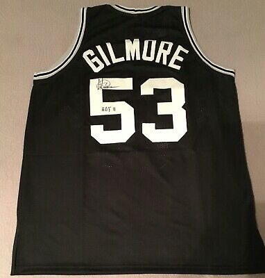 49d4b26c ARTIS GILMORE SAN ANTONIO SPURS AUTOGRAPHED NBA JERSEY JSA CERTIFIED HOF