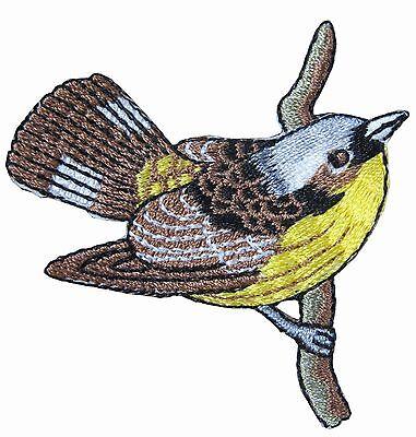 "#4314 3-1//4/"" Cardinal Bird,Tropical Bird Embroidery Iron On Appliqué Patch"
