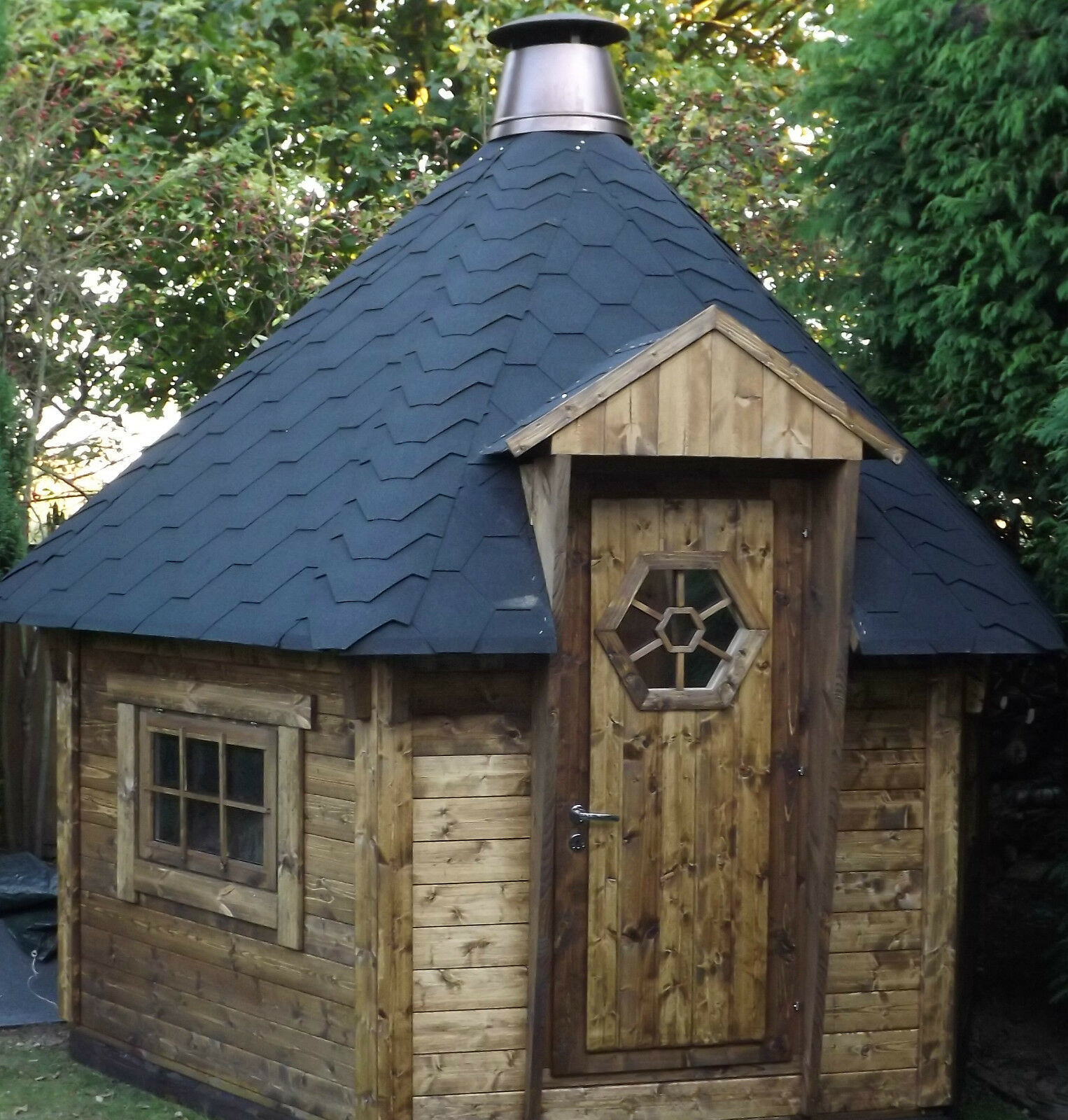 7m2 BBQ Hut Cabin , Timber Log Cabin / Summer House