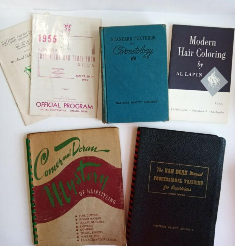 Lot of Vintage Beauty Salon Cosmetology Books - 1950