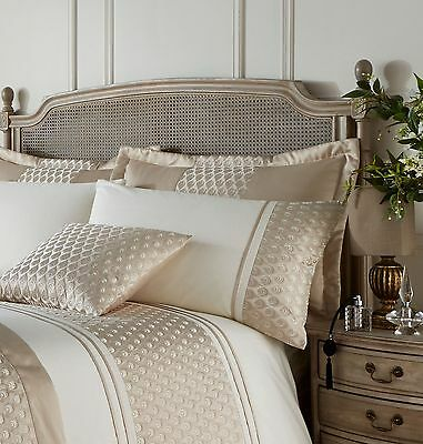 Curtains Ideas cream bedding and curtains : Gold & Cream Duvet Cover Set Embroidered Faux Silk / Satin Bedding ...