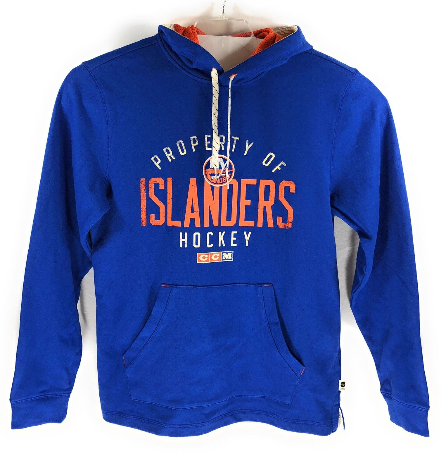 CCM NHL New York Islanders Vintage Retro Hockey Hoodie Mens