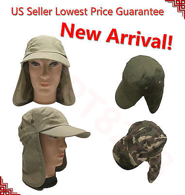Men's Outdoor Protection UV-proof Windproof Fishing Cap Neck Face Fish Hat SJP - Fish Hat