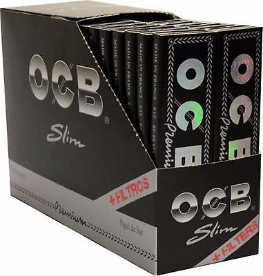 OCB PREMIUM LONG SLIM + TIPS 32 x Papers Papierchen + Filter-TIPS (809)