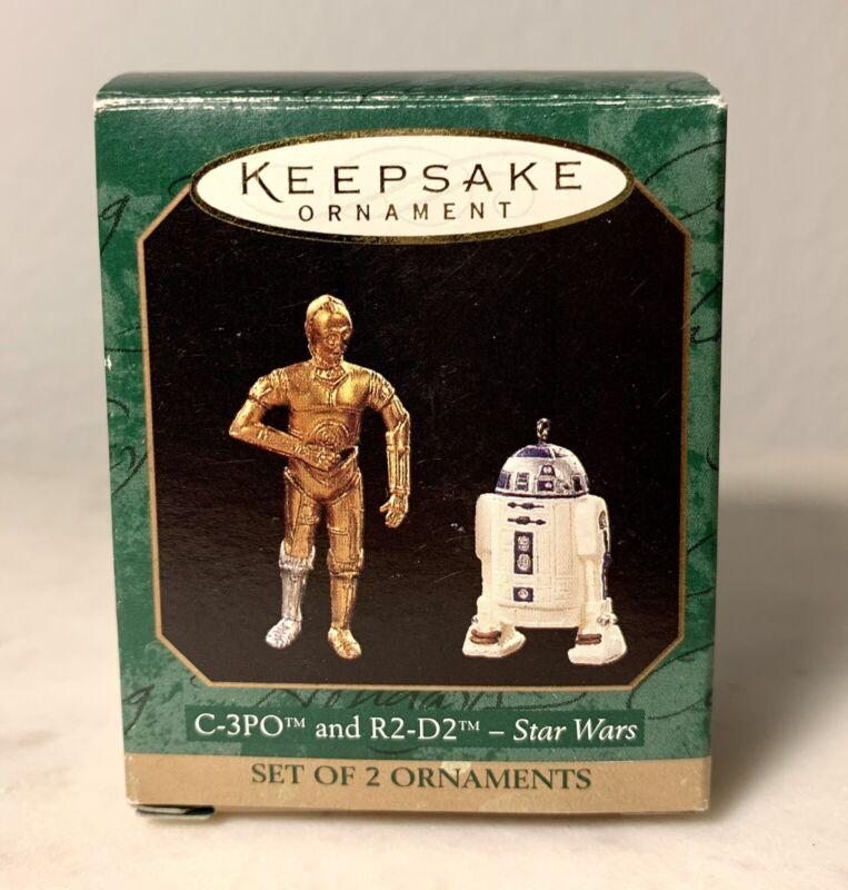 1997 Hallmark STAR WARS - C-3PO AND R2-D2 MINIATURE ORNAMENT SET