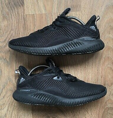 ADIDAS MENS SIZE UK 9 ALPHABOUNCE BLACK RUNNING GYM RUN TRAINING TRAINERS