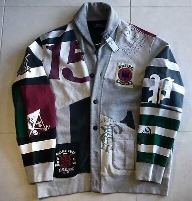 Polo Ralph Lauren Patchwork sweater jacket RRL p wing stadium 1992 Snow beach