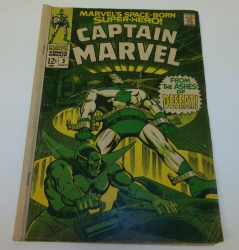 Captain Marvel Ashes of Defeat 3 July 1968 Comic Book