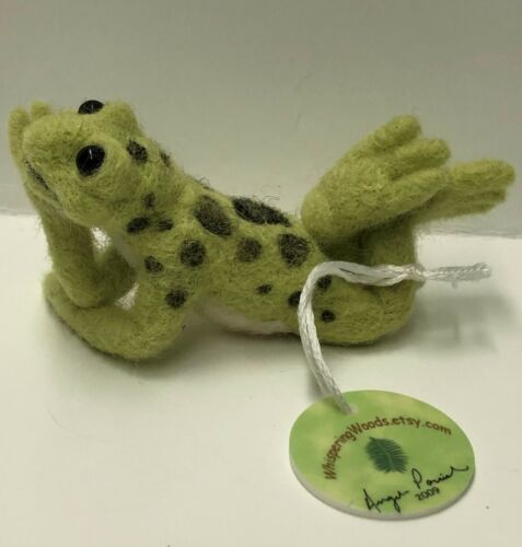 Original One Of A Kind Firm Needle Frog on Lily Pad