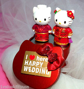 Hello Kitty and Daniel Chinese Wedding Cake Topper **US SELLER**
