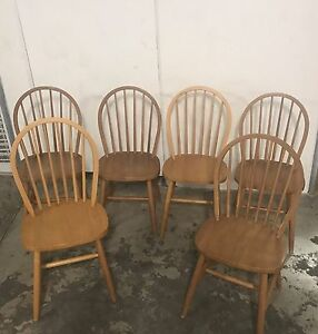 Set of 6 wooden dining chairs Avalon Pittwater Area Preview