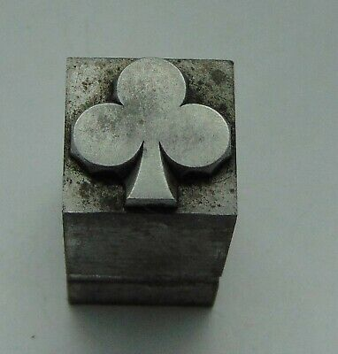 Vintage Printing Letterpress Printers Block Playing Card Club
