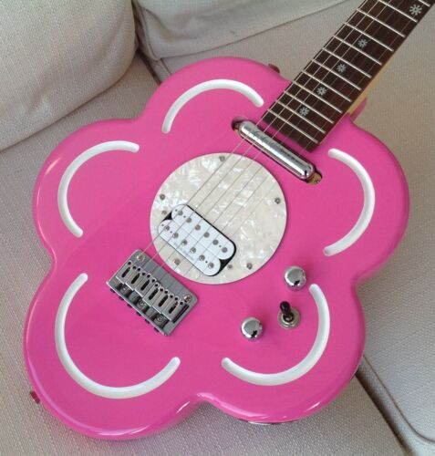 Daisy Rock Pink Flower Electric Guitar Superb Condition Original Pink Case