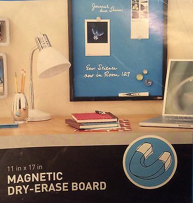 New Quartet Magnetic Dry-erase Board Blue And Black 17x11 Hareware Included
