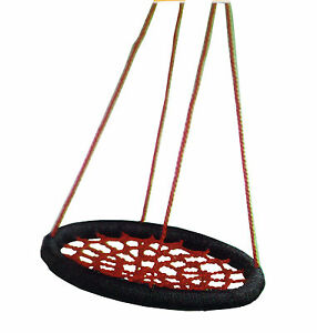 Nest-Swing-Spider-Web-Kids-Special-Needs-Cubby-House-Play-Equipment-BLACK-RED