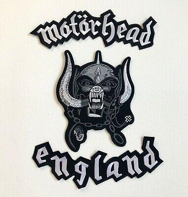 Motorhead Inglaterra 3 Piezas Juego Grande Biker Chaqueta Espalda Bordado Parche
