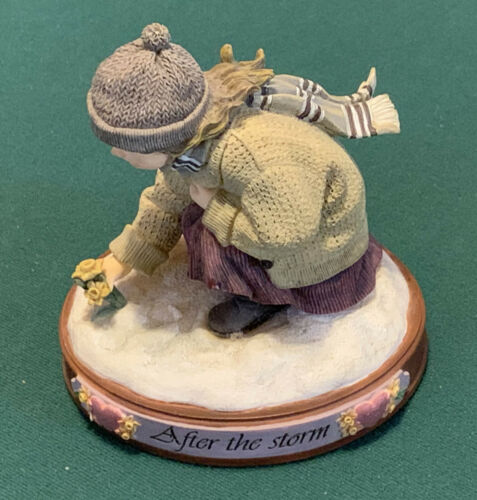MATTERS OF THE HEART AFTER THE STORM FIGURINE BY BILL STROSS DEMDACO 2003 - NICE