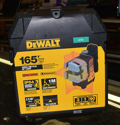 New Sealed Dewalt Dw089k Red Self Leveling 3 Beam Cross Level Line Laser