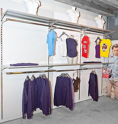 3,7m Rückwandsystem Konfektionsrahmen Kleiderschrank Ladeneinrichtung Regal TOP
