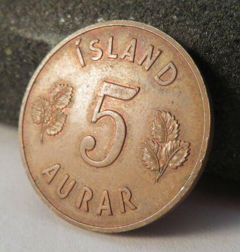 1960 Iceland 5 Aurar Coin KM 9 Island