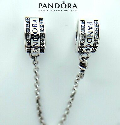 NEW Authentic Pandora Silver 925 Insignia CZ Safety Chain Bead 792057-05