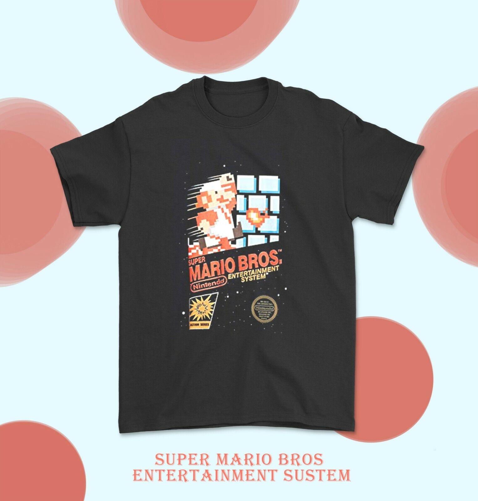 Super Mario Splatfest T-Shirt, Gift Splatoon, Men's Short Sleeve Black T-Shirt