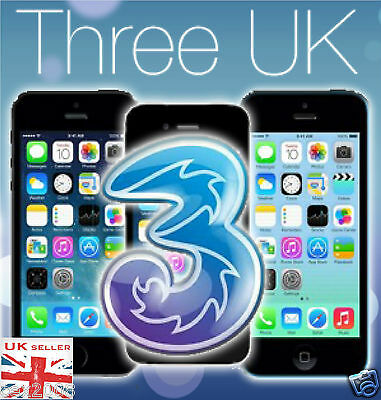 OFFICIAL FACTORY PERMANENT UNLOCKING THREE/HUTCHINSON UK APPLE IPHONE 6 6plus
