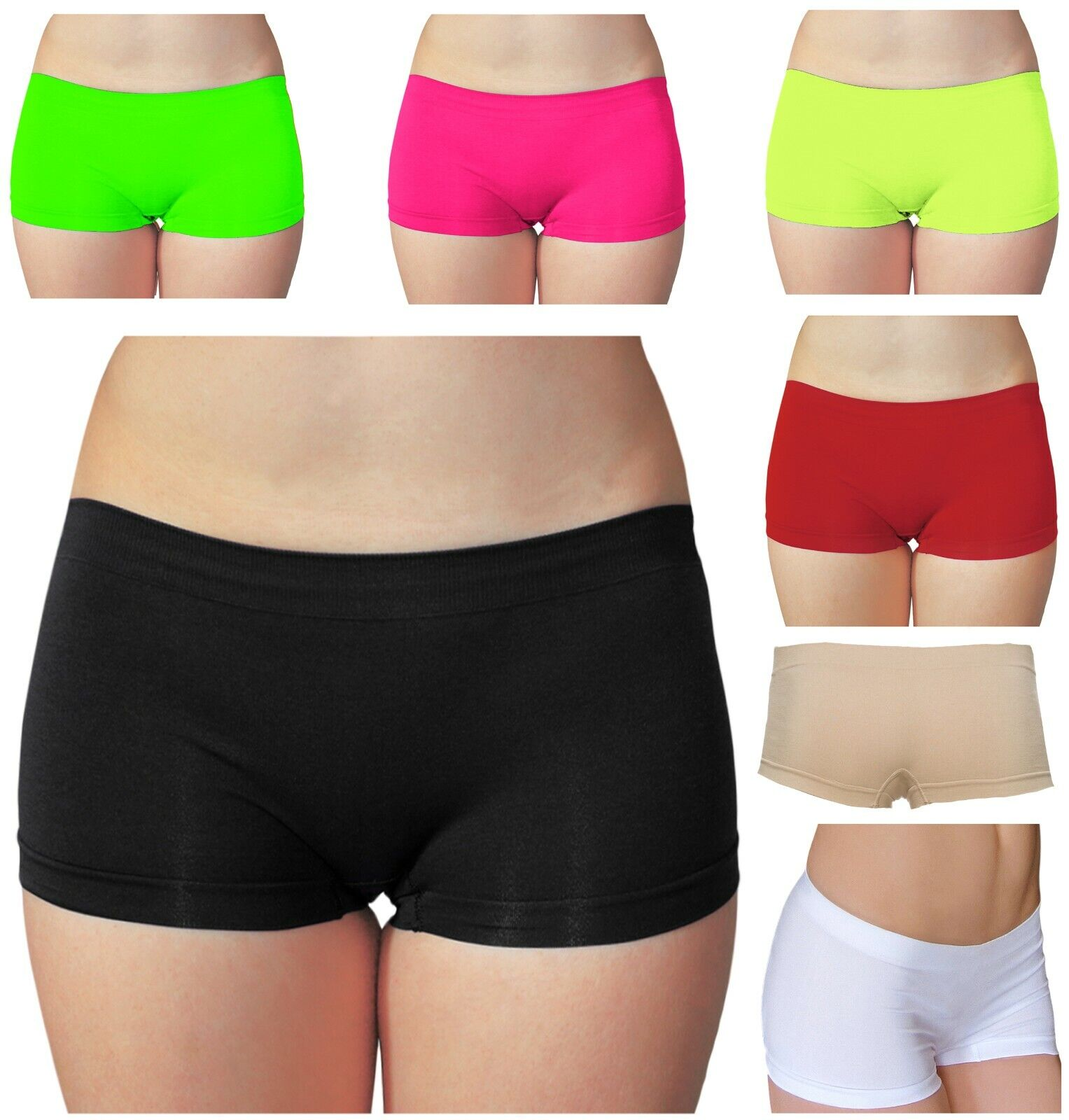 Women's Seamless Stretch Underwear Hot Shorts Booty Boy Short One Size Clothing, Shoes & Accessories