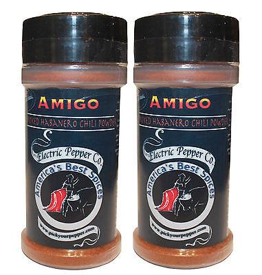 Smoked Habanero Chile Pepper Powder Chipotle Amigo Dried 2 x 1.5 oz Hot Spice
