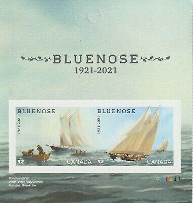 Canada 2021 Bluenose 100th Launch Anniv. - MNH (BK pane)