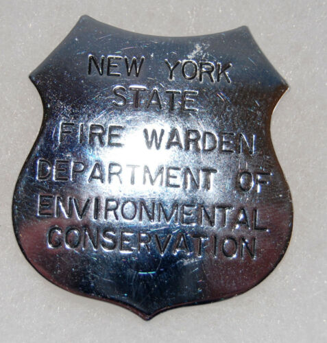 New York Department of Environmental Conservation Fire Warden Badge