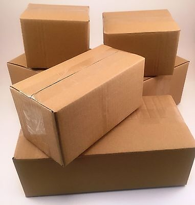25 9x6x4 Corrugated Cardboard Shipping Boxes -packing -cartons -mailing -moving